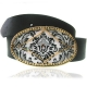 Belt with fleur de lys Buckle