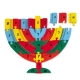 Colorful Menorah Alef Beit Puzzle