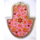 Pink Wall Hamsa with Star of David