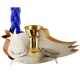 Pomegranate and Dove Havdalah set