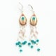 Ethnic Flower Bead Earrings by Ester Shahaf