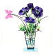 Anemone Flower Vase Purple by Tzuki