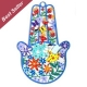 Flowers Hamsa Hand by Tzuki Art