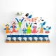Happy Family Hanukkah Menorah Blue