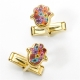 Thousand flower Hamsa Cufflinks