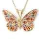 Thousand Flowers Butterfly Pendant
