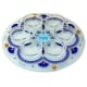 Painted Glass Seder Plate by Ester Shahaf