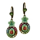 Small Colorful Flower Cameo Earrings by Orly Zeelon