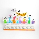 Happy Family Hanukkah Menorah White