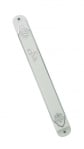 White Plastic Mezuzah with silver design