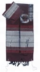 Gabrieli silk Tallit Set in Dark Red with Silver