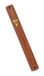 Wood Color Plastic Mezuzah