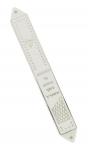 White and Silver Plastic Mezuzah