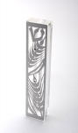 Wheat Stainless Steel  Mezuzah Case by Dorit