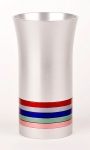 Anodized Aluminium Kiddush Cup By Agayof   Multi Colored Stripes