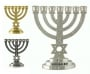 Star of David Silver Seven Branch Menorah