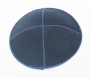 Dark Blue Suede Kippah
