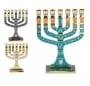 Colorful Enamel Twelve Tribes Menorah