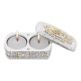 Travelling Silver Plated Candlesticks With Cover