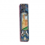 Jerusalem design wooden Mezuzah