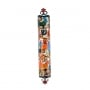 Yair Emanuel Laser Cut Hand Painted Metal Mezuzah   Birds