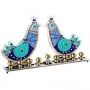 Gazing Birds Hanukkah Menorah