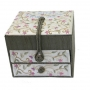 Embroidered Bat Mitzvah Jewelry Box   Flowers