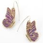 Purple Butterfly Earrings by Adina Plastelina