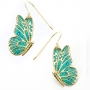 Green Butterfly Earrings by Adina Plastelina