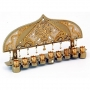 Gold Color Hanukkah Menorah by Ester Shahaf