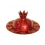Emanuel Pomegranates Honey Dish Red Anodize Aluminium