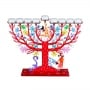 Family Tree Hanukkah Menorah   Red