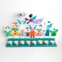 Happy Family Hanukkah Menorah   Turquoise