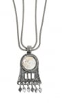 Silver and Roman Glass Oil Lamp design Necklace