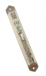 Silver Plated Enamel Mezuzah   Jerusalem Old City design