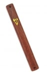 Dark Wood Color Plastic Mezuzah