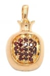Gold Filled Pomegranate Garnet Stones Pendant