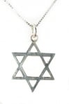 Classic Sterling Silver Star of David Pendant