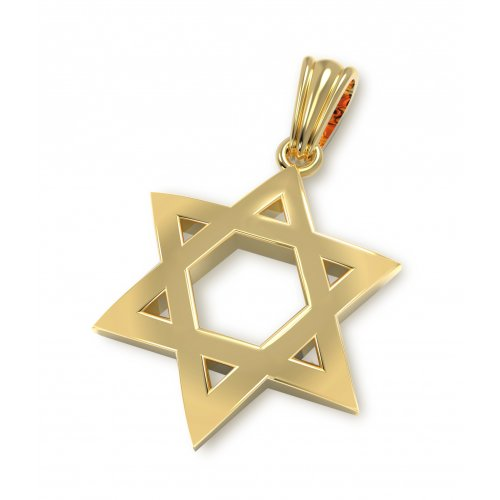 14K Gold Classic Star of David Pendant