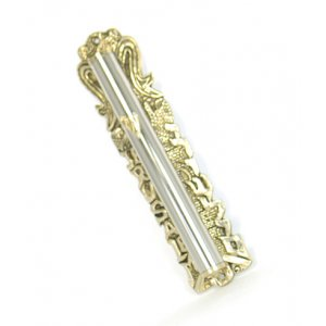 Gold and Silver Classic Jerusalem Wall Mezuzah Case