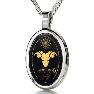 Capricorn Zodiac Pendant by Nano Jewelry
