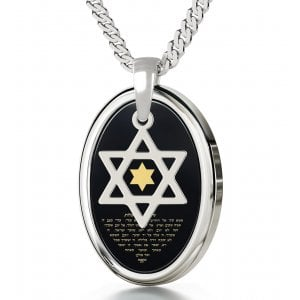 Nano Jewelry Silver Song Of Ascents Star of David Pendant