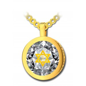 Gold Star of David Jewelry With Shema Yisrael Prayer