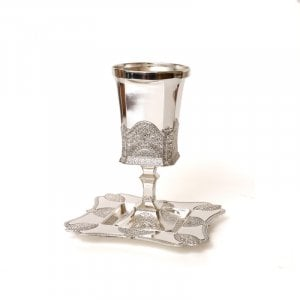Kiddush Cup And Base Filigree design