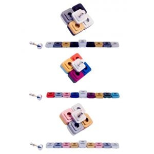 Agayof Compact Two-in-One Menorah and Dreidel - Choice of Colors