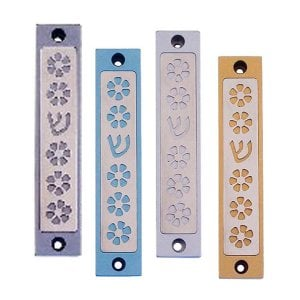 Flowers Mezuzah case By Agayof- Light Colors