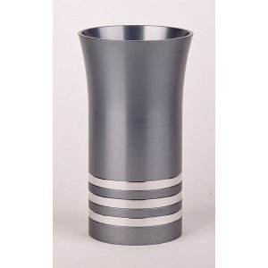Kiddush Cup By Agayof - Grey With Stripes