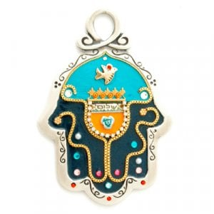 Midnight Black Pewter Hamsa by Ester Shahaf