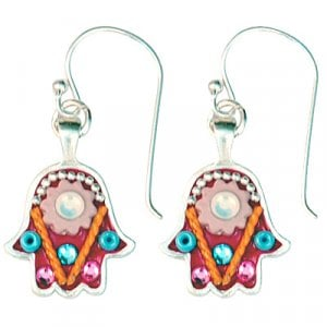 Ethnic Hamsa Earrings by Ester Shahaf