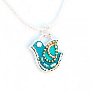 Shahaf Dove in Turquoise-Silver